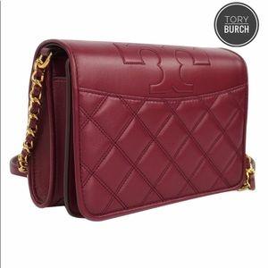 Tory Burch Savannah Combo Leather Crossbody Bag